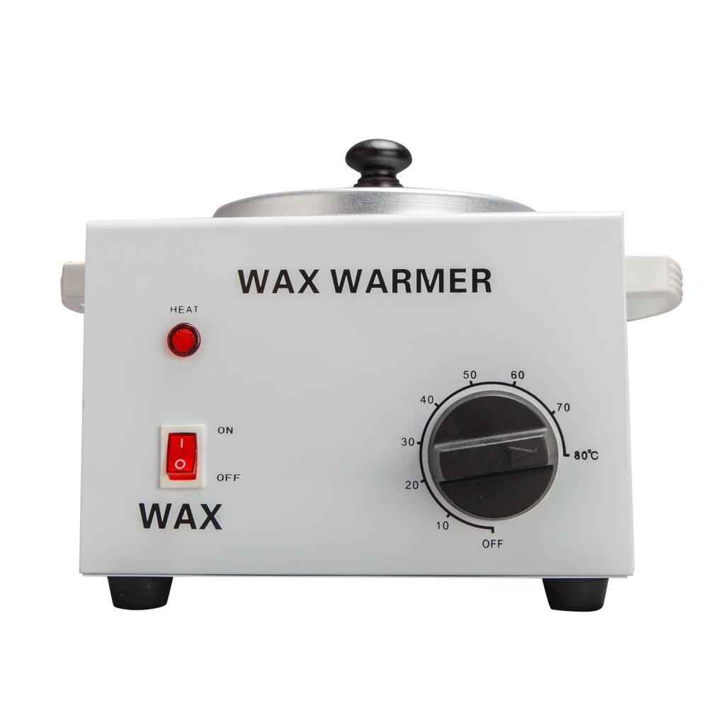 Mefeir Single Pot Electric Wax Warmer Hair Removal or Paraffin, Salon Wax Heater Machine Portable for Facial Unhairing Skin Spa Tool Fast Melt Wax Beads (1 Pot)
