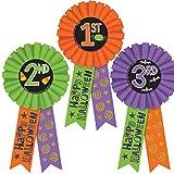 Toys : Amscan 210564 Halloween Award Ribbons 3ct, Multicolor
