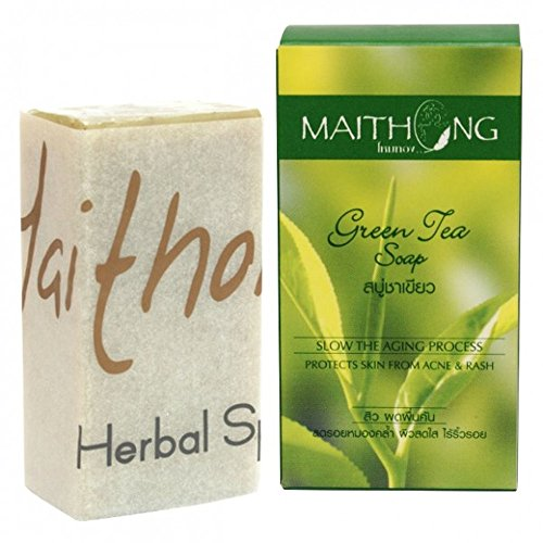 Green Tea Herbal Soap with Natural Anti-Oxidant, Protects Skin from Acne & Rash, 100g | BeautyBreeze