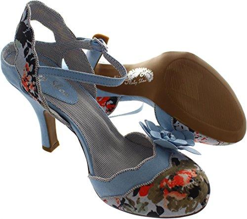 Ruby Shoo Women's Heidi Spotty Fabric Slingback Pumps Sky Blue discount find great BJ6UIaD