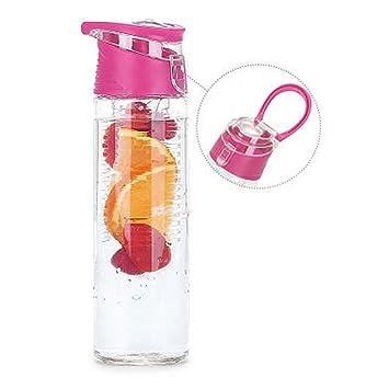 Botella de agua con infusor de frutas | a prueba de fugas botella de agua |