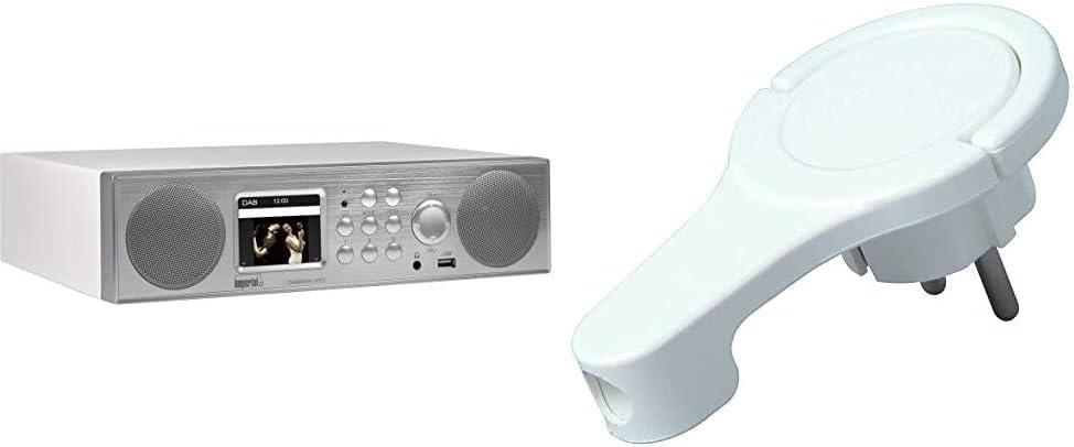 Imperial 22 246 00 Dabman I450 Internet Dab Radio 2 1 Sound Bluetooth Internet Dab Dab Ukw Wlan Lan Usb Aux In Line Out Silber Weiß Kopp 172002037 Flachstecker Weißflachstecker Weiß 250 V Heimkino Tv Video