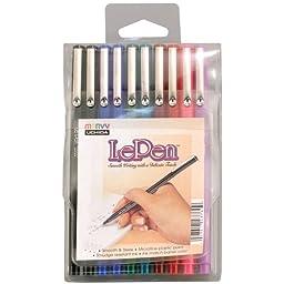 Uchida, Le Pen, 0.3 Millimeter point, Pen Set, 10 Pack, Multicolor