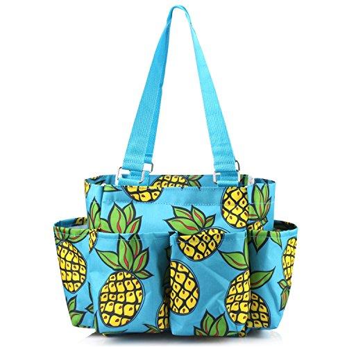 Zodaca Pineapple 7 Pocket Organizer Caddie Bag