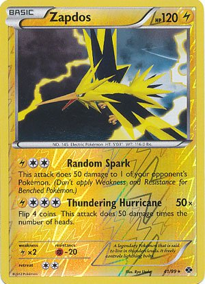 Pokemon - Zapdos (41) - BW - Next Destinies - Reverse for sale  Delivered anywhere in USA