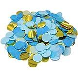 Mybbshower Metallic Gold Blue Wedding Paper Confetti Boy Birthday Baby Shower Party Decorations 5000 Plus