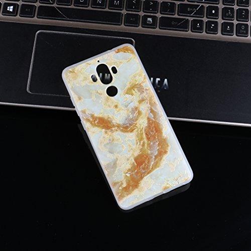 Funda Huawei Mate 9,XiaoXiMi Carcasa de Silicona TPU Suave y Esmerilada Funda Ligero Delgado Carcasa Anti Choque Durable Caja de Diseño Creativo - Mármol Mármol