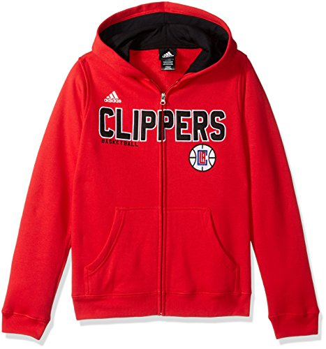 NBA Youth 8-20 Los Angeles Clippers Stated Full Zip Hoodie -Red-L(14-16)
