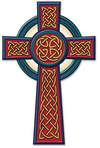 Irish Celtic Passion Cross Decal Vinyl Window Sticker ()