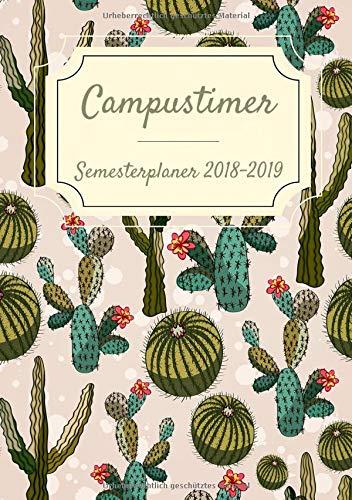 Semesterplaner 2018-2019: Campustimer und Semesterkalender für das neue Winter und Sommersemester Taschenbuch – 6. August 2018 Keep Learning Independently published 1718057164