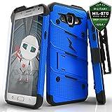 Samsung Galaxy J7 Case, Zizo [Bolt Series] with FREE [Galaxy J7 Screen Protector] Kickstand [12 ft. Military Grade Drop Tested] Holster - J7 2015