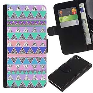 KingStore / Leather Etui en cuir / Apple Iphone 6 / Rose amérindienne