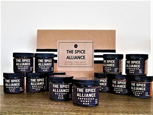 Set Black Rub (The Spice Alliance Ultimate Griller Collection of Rubs and Seasonings. Gift set of 12 two oz jars)