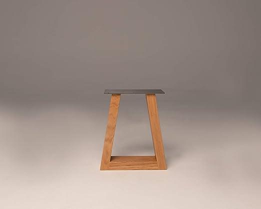 The Aarne Leg - Juego de 2 patas de madera para mesa de escritorio ...