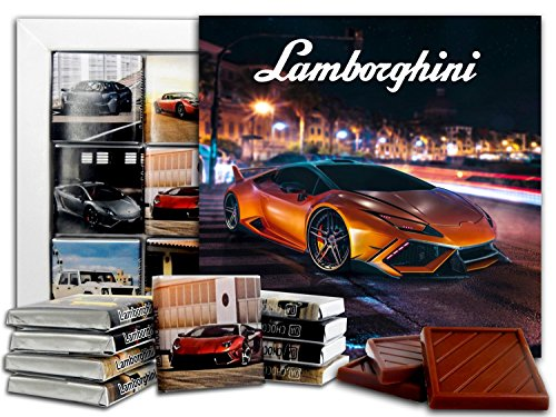 DA CHOCOLATE Candy Souvenir LAMBORGHINI Chocolate Gift Set 5x5in 1 box (Lamborghini Gallardo Murcielago)