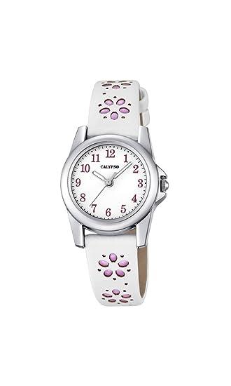 Calypso Reloj Análogo clásico para niñas de Cuarzo con Correa en Cuero K5712/2: Calypso: Amazon.es: Relojes