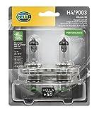 HELLA H4P50TB + 50% + +50 Performance H4 Bulbs, 12V, 60/55W, 2 Pack