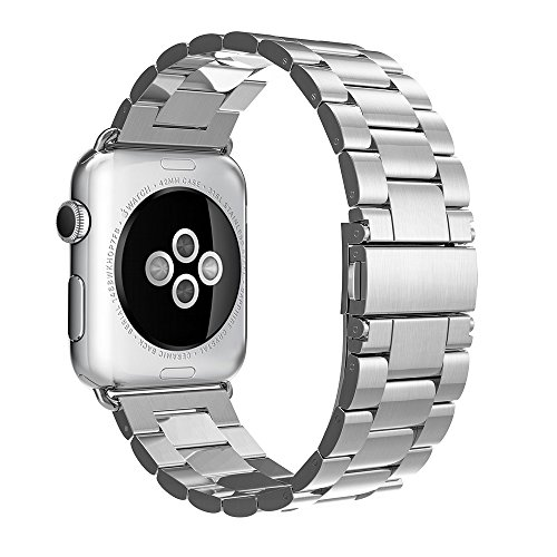 Simpeak iWatch Band 38mm Stainless Steel Replacement Strap for Apple Watch - Silver