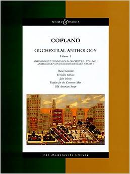 コープランド: 管弦楽のためのアンソロジー 第1巻/ブージー & ホークス社/大型スコア