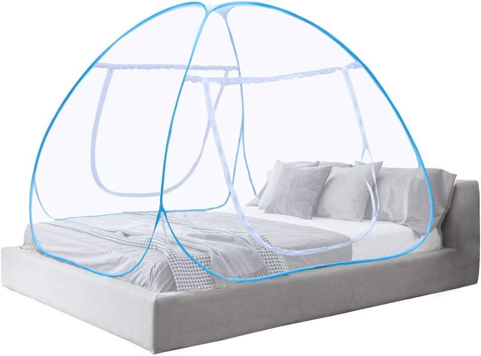 El toldo neto de la cama del mosquito emerge para arriba las mordeduras anti del mosquito de la puerta doble plegable - 2 años de garantía (180 * 200 * 150cm)