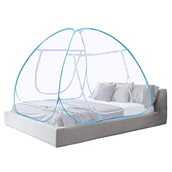 Moustiquaire Ciel De Lit Pop Up Pliable Double Porte Facile A