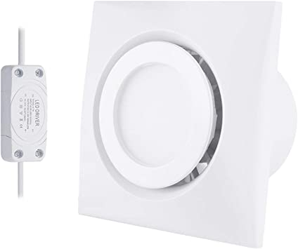 Exhaust Fan Bathroom Ceiling 50 CFM Small Room Recessed Wall Mount Ventilation