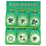 Amscan Lucky Irish Green St. Patrick's Day Glittered Body Jewelry Assortment Party Accessory, 4.75 x 3.40, Multi Color