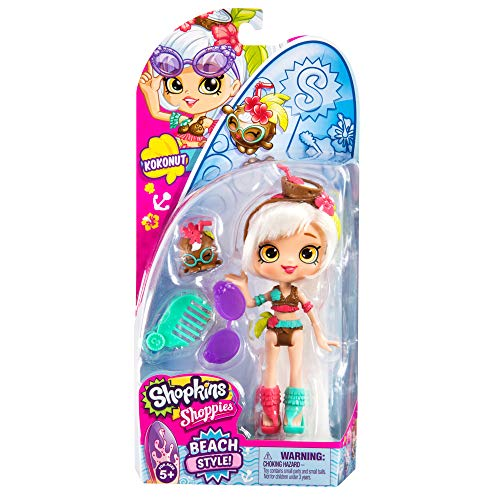 Shopkins Range of 5' Beach Style Shoppie Dolls with Matching and Accessories
