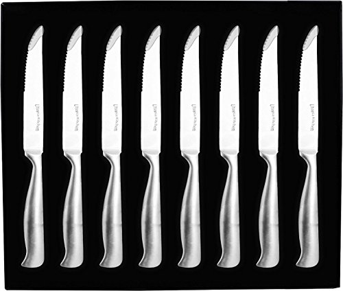 8 Pieces Stainless-Steel Kitchen Steak Knife - Professional Quality - Premium Class - Multipurpose Use for Home Kitchen or Restaurant - By Utopia Kitchen