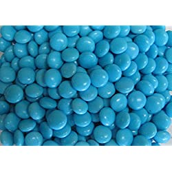 Light Blue Choco Candy Buttons 1 lb Bag