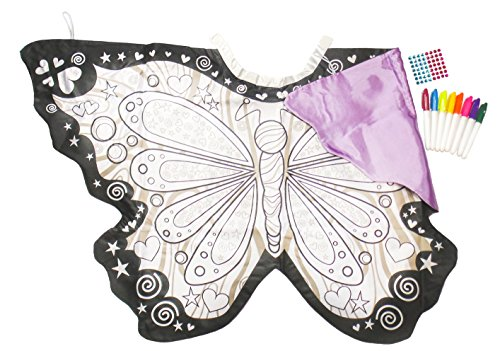 Make Your Own Angel Costume For Halloween (Great Pretenders Butterfly Colour-a-Wings Dress-Up)