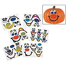 Halloween Jack-O-Lantern Funny Faces Party Favor Sticker Sheets - 12 sheets