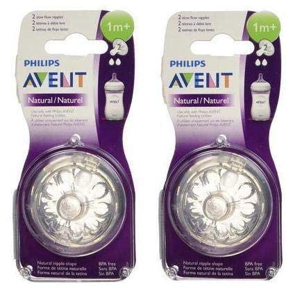 Philips Avent Natural Nipple Slow Flow - 4 - Slow Flow Avent Nipple