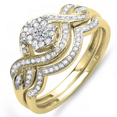 Yellow Gold Ladies Bridal Rings - 1
