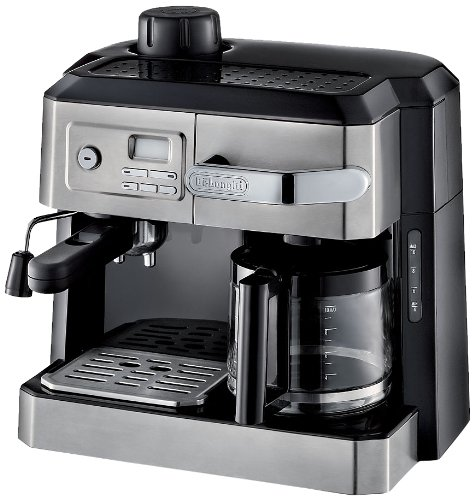 "DeLonghi BCO330T Combination Drip Coffee and Espresso Machine, 24"" x 14"" x 14"", Black/Stainless Steel"