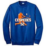 "Silo Shirts BLUE Yoenis Cespedes New York ""AIR"" CREWNECK Sweatshirt ADULT"