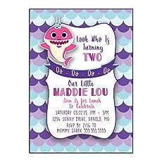 Baby Shark Birthday Invitation Party Printable Corjl