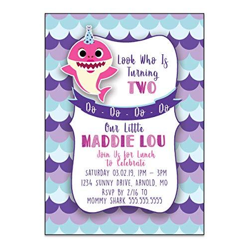 Baby Shark   Birthday Party Invitation   Personalized ()