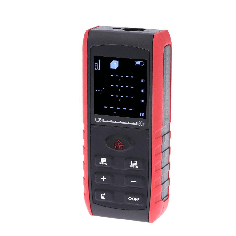KKMOON 80m Distance Compteur Portable Ordinateur De Poche Numé rique Laser Range Finder Zone Volumé trie Avec Indication De l' Angle