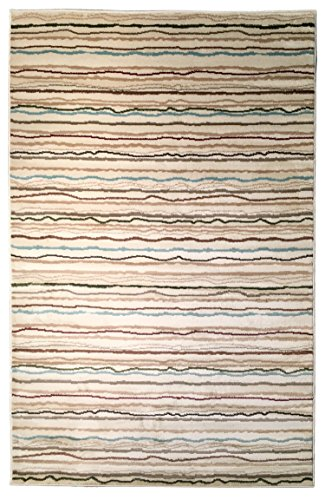 Soft Pile (Homeward Collection Soft and Plush Low Pile Area Rug Spectrum Combs Design - 5'X7')