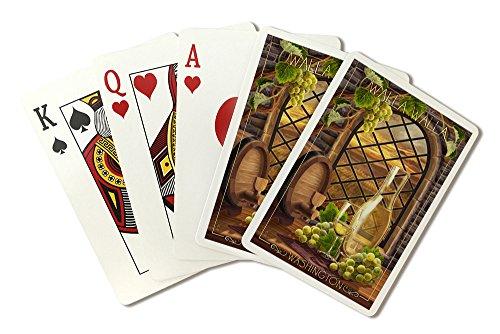 Walla Walla, Washington - Chardonnay (Playing Card Deck - 52 Card Poker Size with Jokers)