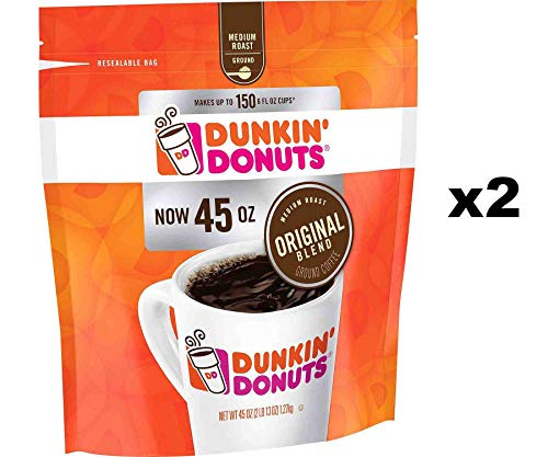 Dunkin' Donuts Original Blend Ground Coffee, Medium Roast (90 oz.)