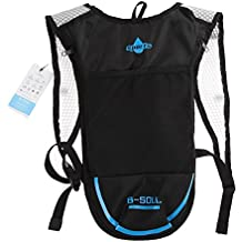 Domybest Hydration Pack Backpack For Camping/Hiking/Cycling(Black+Blue)