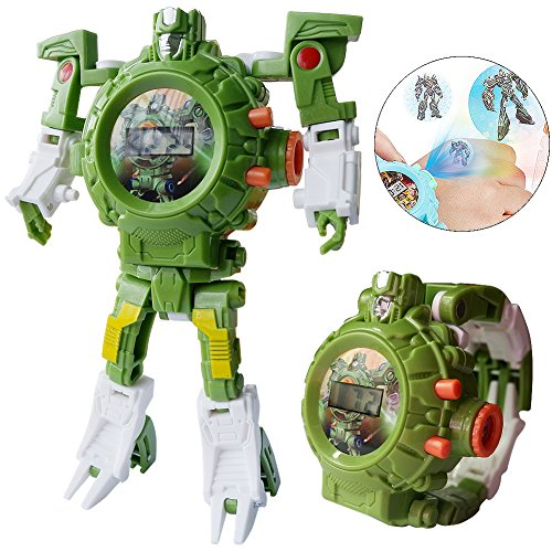 gomamo Transformers Toys, 3 IN 1 Rescue Bots Digital Watch as Kids Toys (Digital Toys)