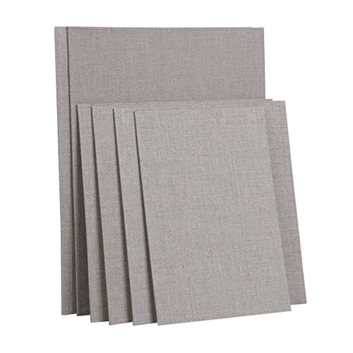 Transon Artist Painting Canvas Panel Board Primed Linen 6pcs Size 8 x 12, 12 x 12, 12 x 16 inch by Transon
