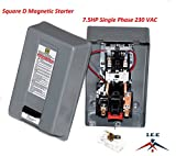motor electric 1 hp - SQUARE D MAGNETIC STARTER CONRTROL ELECTRIC MOTOR 8911DPSG42V09 7.5HP 1-PH 230V