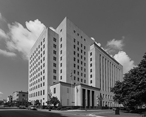 Vintography 24 x 36 B&W Giclee Print F. Edward Hebert Federal Building, New Orleans, Louisiana 2014 Highsmith 81a