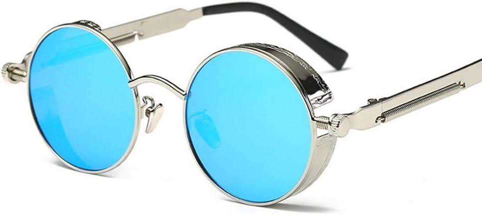 Gafas de Motocicleta polarizadas Gafas de Sol Estilo Retro Steampunk Gafas Redondas Moto Aviador Motociclista Montar Conducir Gafas