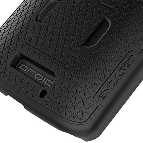 Encased Droid Turbo 2 Belt Clip Holster Case, Encased [DuraClip] Slim Cover w/ClikLock Holster for Motorola Droid Turbo 2 (Verizon XT1585) by Encased (Image #4)