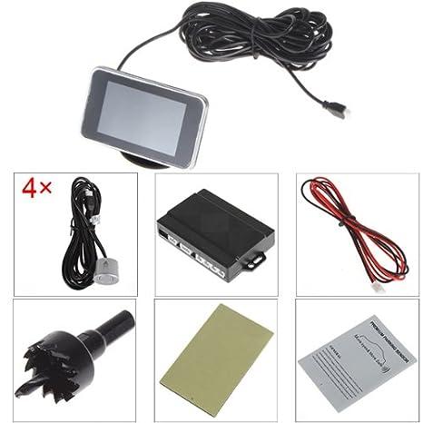 Mini pantalla LED 4 sensores ePathChina Kit CPU Dual auto/Camión/vehículo Cisbo/Sensoren/Parking sensor revocando Radar sensores sistema zumbador, ...